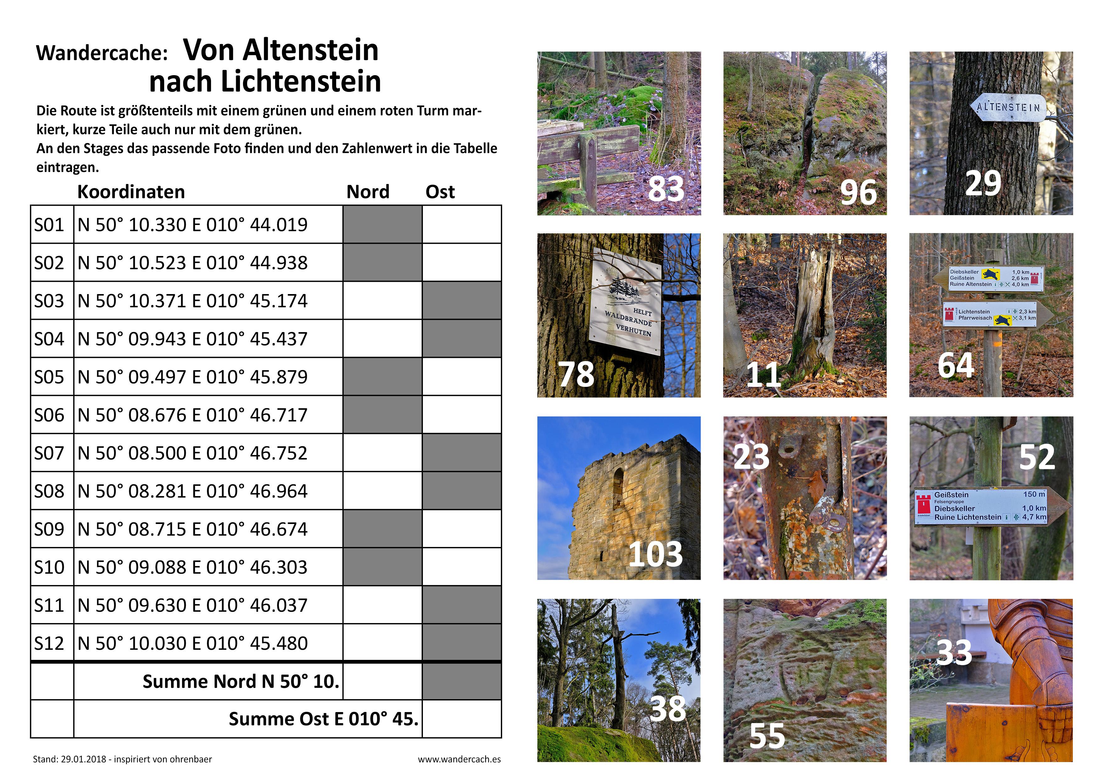 GC7HNBQ Wandercache: Von Altenstein nach Lichtenstein (Multi-cache ...