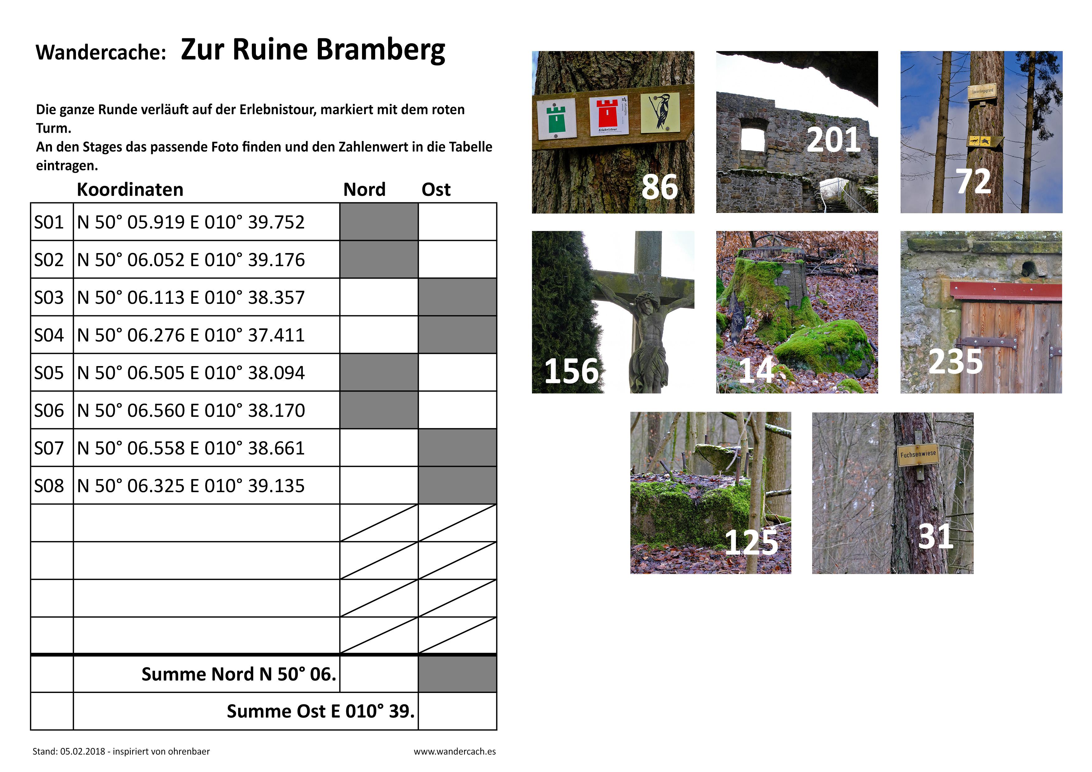 GC7HX0T Wandercache: Zur Ruine Bramberg (Multi-cache) in Bayern ...